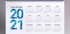 international holidays calendar 2021